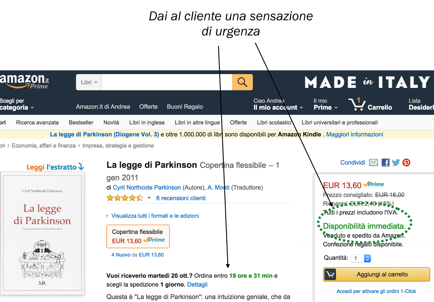amazon.com Disponibilita immediata