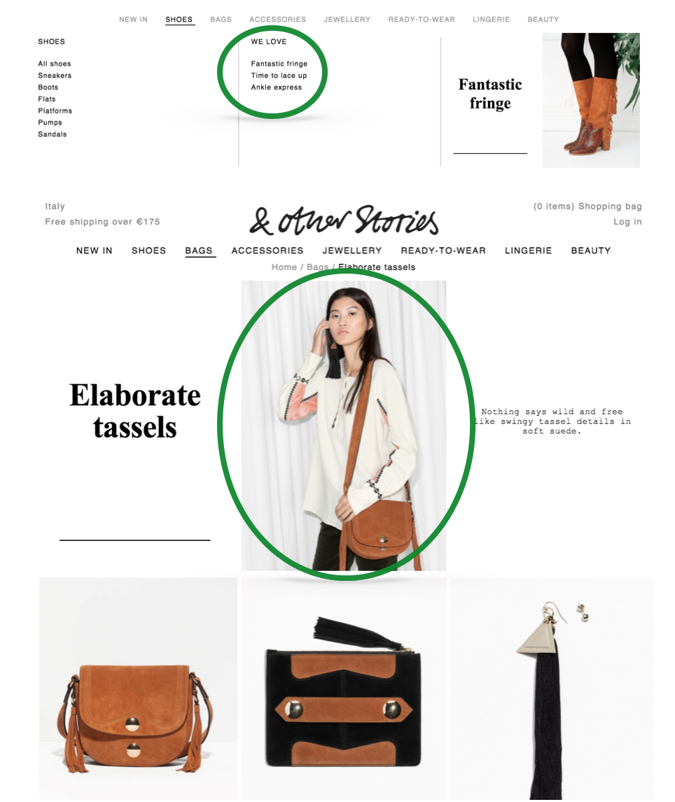 Other stories.com e-commerce